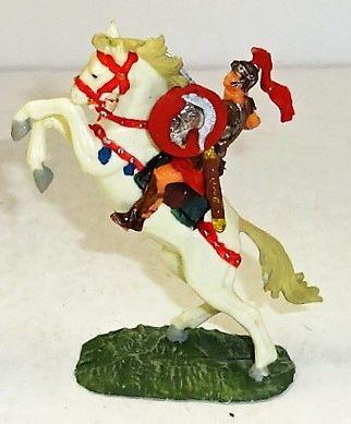 ELASTOLIN, 40MM, #8454-4, ROMAN ON #8884 WHITE HORSE (UNBOXED)