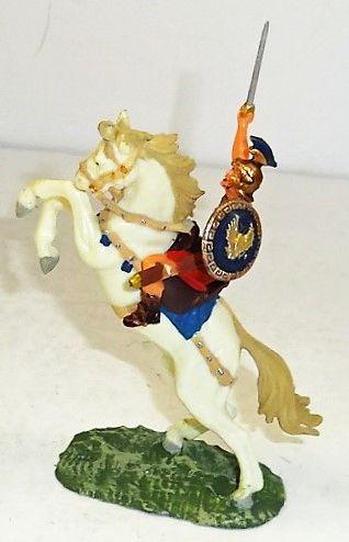 ELASTOLIN, 40MM, #8459-4, ROMAN ON #8884 WHITE HORSE (UNBOXED)