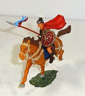 ELASTOLIN, 40MM, #8457-4, ROMAN ON BROWN HORSE (UNBOXED)