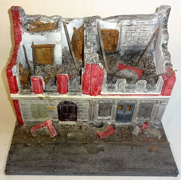 (RANDY DITTMAR) DESTROYED BUILDING, (SOLD)