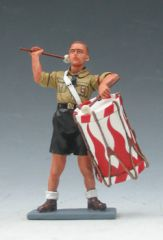 KING AND COUNTRY, LAH053, 1/30, HITLER JUGEND DRUMMER (BOXED)