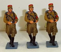 KING AND COUNTRY, LAH046 COMBO, 1/30, SET OF THREE SA MARCHING, (BOXED)