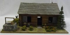"""LOG CABIN, 1, WITH FIREPLACE, 12"""" X 12"""", (1/30 & 1/32 FIGURES NOT INCLUDED, (UNBOXED)"""