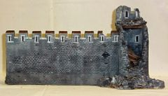 "MEDIEVAL CASTLE, 2, DAMAGED WALL, 28 mm to 40 mm, 13"" LG. (UNBOXED)"