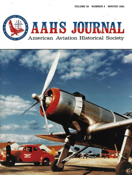 AAHS JOURNAL, AMERICAN AVIATION HISTORICAL SOCIETY, VOL. 39, NO. 4