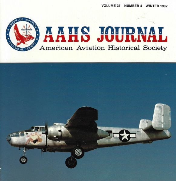 AAHS JOURNAL, AMERICAN AVIATION HISTORICAL SOCIETY, VOL. 37, NO. 4