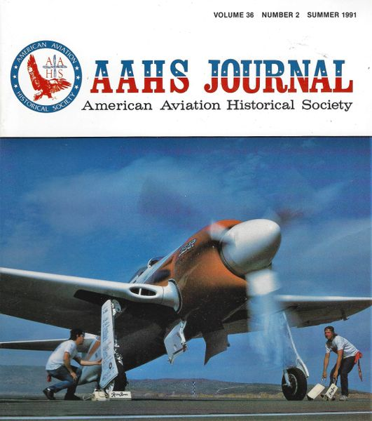 AAHS JOURNAL, AMERICAN AVIATION HISTORICAL SOCIETY, VOL. 36, NO. 2