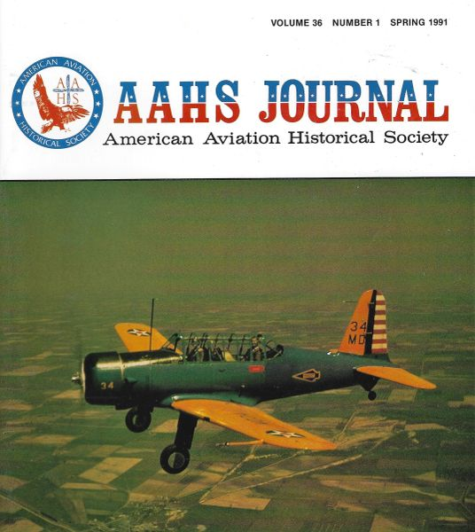 AAHS JOURNAL, AMERICAN AVIATION HISTORICAL SOCIETY, VOL. 36, NO. 1