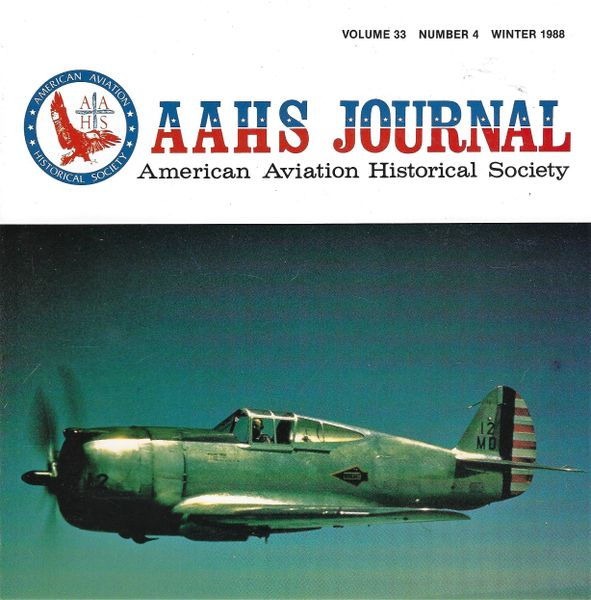 AAHS JOURNAL, AMERICAN AVIATION HISTORICAL SOCIETY, VOL. 33, NO. 4