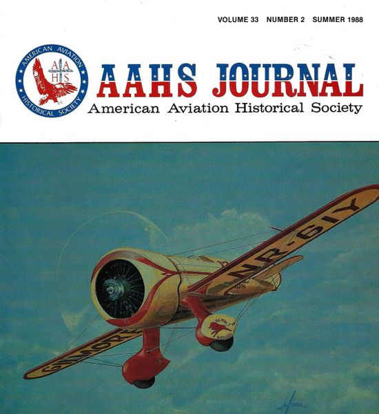 AAHS JOURNAL, AMERICAN AVIATION HISTORICAL SOCIETY, VOL. 33, NO. 2