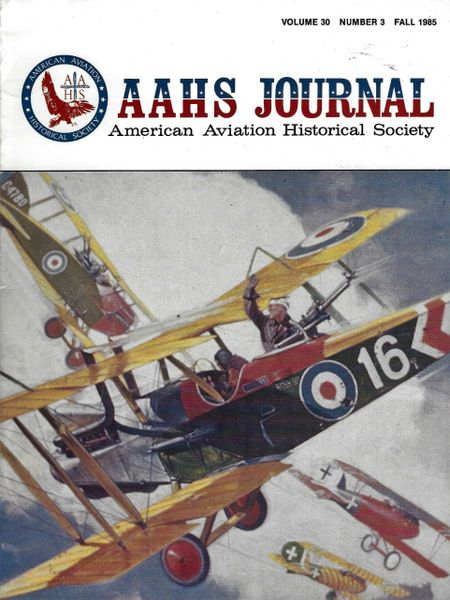 AAHS JOURNAL, AMERICAN AVIATION HISTORICAL SOCIETY, VOL. 30, NO. 3