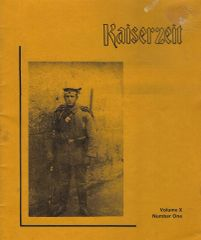 KAISERZEIT, VOL X, NO 1
