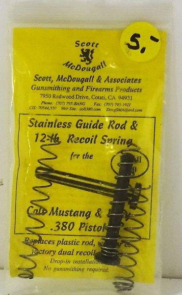 COLT PISTOL MUSTANG & PONY, .380 PISTOL, GUIDE ROD & RECOIL SPRING