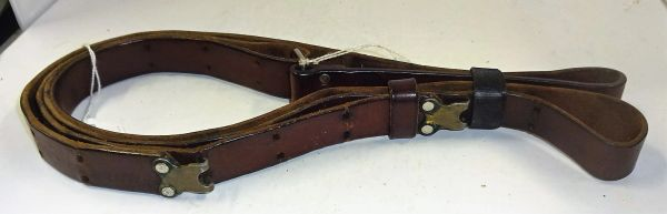 """LEATHER BELT, 3, 7/8"""" WIDE. (POSSIBLE FOR M-1 GARAND RIFLE ?)"""