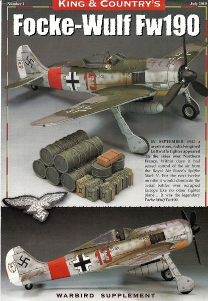 KING AND COUNTRY FLYER, FOCKE-WULF 190