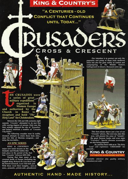 KING AND COUNTRY, BOOKLET, CRUSADERS 1