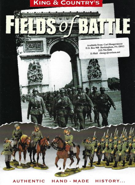 KING AND COUNTRY, FLYER, FIELDS OF BATTLE, 1