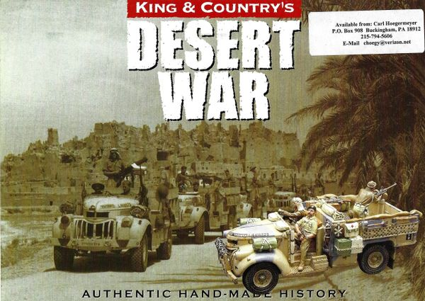 KING AND COUNTRY, BOOKLET, AFRICA. 1, DESERT WAR