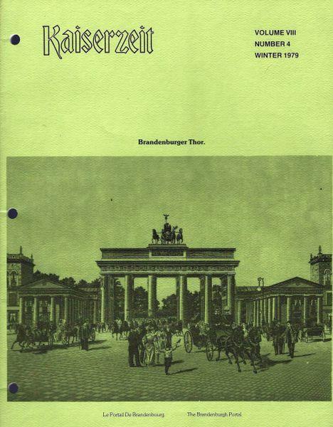 KAISERZEIT, VOL VIII, NO 4