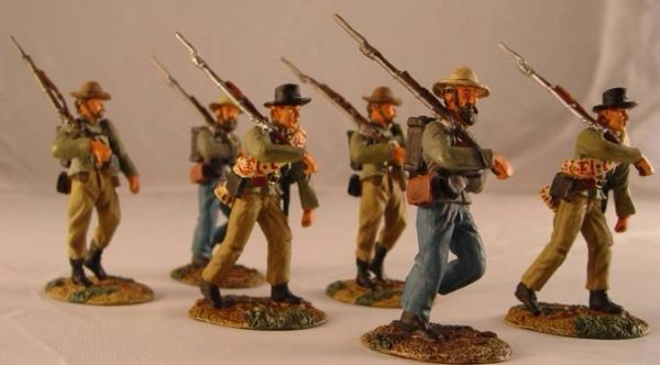 CONTE, ACW57110, 1/32, CONFEDERATE INFANTRY ROUTE MARCHING, (BOXED)