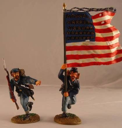 CONTE, ACW57109, 1/32, UNION INFANTRY FLAG SET, (BOXED)
