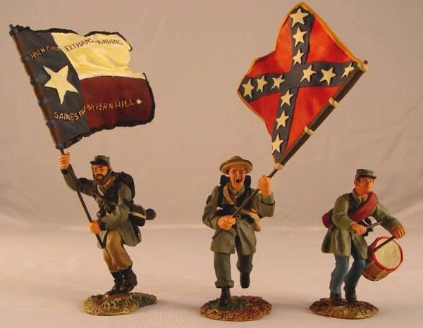 CONTE, ACW57126, 1/32, CONFEDERATE (TEXAS) FLAG SET, (BOXED)
