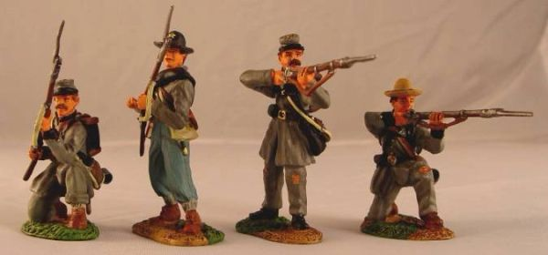 CONTE, ACW57148, 1/32, TEXAS BRIGADE FIRING SET, (BOXED)