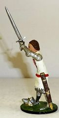 Banners Forward, BF13, 1/32, Knight, Oliver de Aubigny, circa 1346, (Boxed) (Sword replaced)