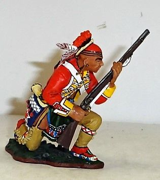 KING AND COUNTRY, 1/30, BR044, EAST COAST INDIAN KNEELING AT THE READY, (BOXED)