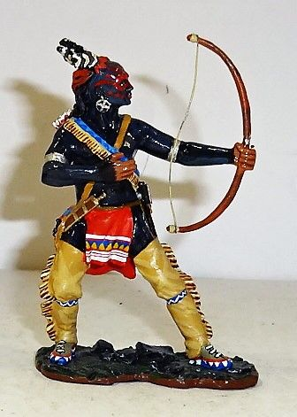 KING AND COUNTRY, 1/30, BR044, EAST COAST INDIAN FIRING BOW, (BOXED)