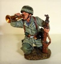 King and Country, FJ004, 1/30, Fallshirmjager, Bugler, (Boxed)