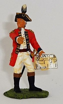 BRITAINS, 17279, 1/32, AMERICAN REVOLUTION GENERAL WILLIAM HOWE, (BOXED)