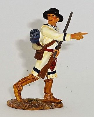 BRITAINS, 17537, 1/32, AMERICAN REVOLUTION COLONEL GEORGE ROGERS CLARK, (BOXED)