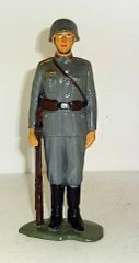 """MARX, MARX1, 6"""" GERMAN INFANTRY AT ATTENTION, 1963-64, (UNBOXED)"""
