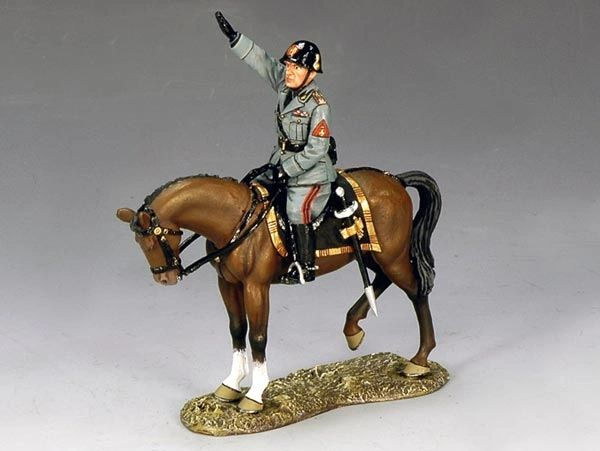 KING AND COUNTRY, IF001, MOUNTED BENITO MUSSILINI, (BOXED)
