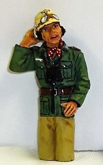 KING AND COUNTRY, AK030, AFRIKA KORP TANK COMMANDER, (BOXED)