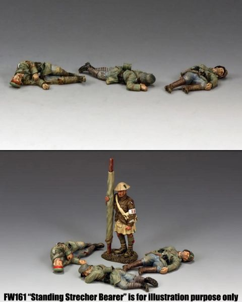 KING AND COUNTRY, FW186, 1/30, LATE WAR GERMAN Casualties , BOXED