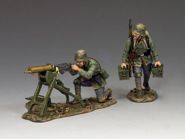 KING AND COUNTRY, FW212, 1/30, LATE WAR GERMAN Machine Gun Team, BOXED