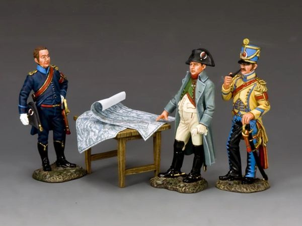 KING AND COUNTRY, NA375, 1/30, THE EMPEROR IN CONFERENCE WITH ADCs (BOXED)