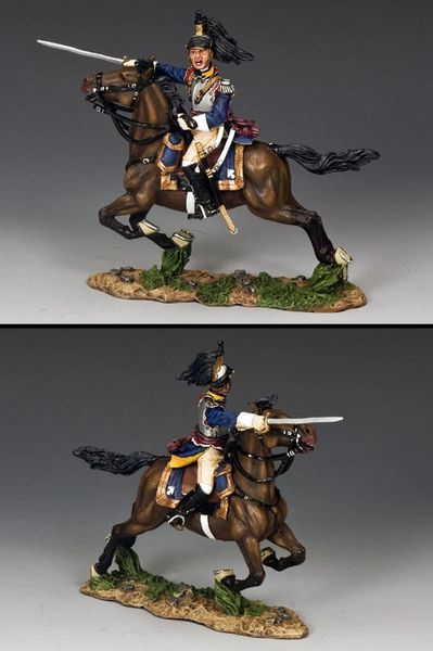 KING AND COUNTRY, NA249, 1/30, FRENCH CURASSIER OFFICER CHARGING (BOXED)