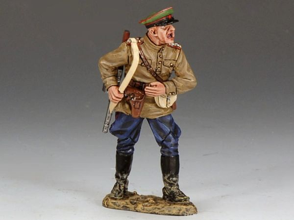 KING AND COUNTRY, RA016, 1/30, Shouting Red Army Officer (Boxed)