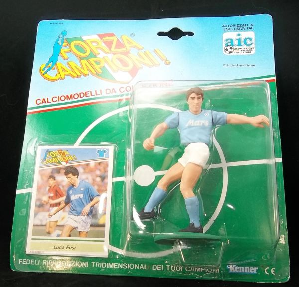 FORZA CAMPANIONI ! Luca Fusi Soccer action figure and collectibles card