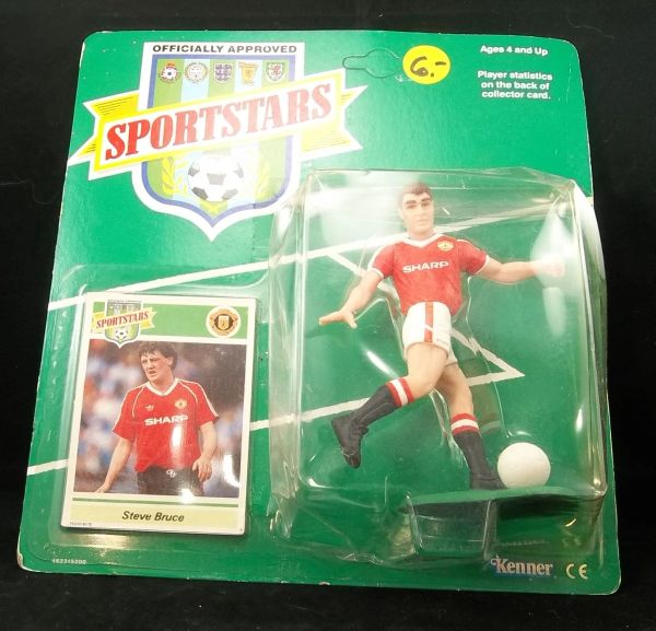 Sportstars Soccer action figure Steve Bruce and collectible card