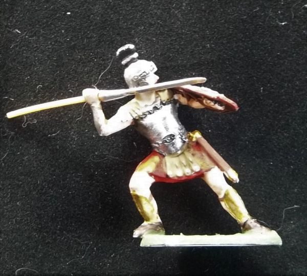 ELASTOLIN, 40MM, K4-8421 Painted Roman with Medusa Shield Unboxed (2 in stock)