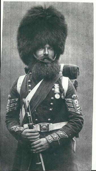 BCW Original English Guards Bear Skin Helmet, circa 1880-1908