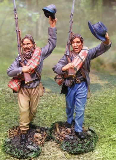 The COLLECTORS SHOWCASE, CS00536, 54mm, Confederate Inf. Marching & Waving