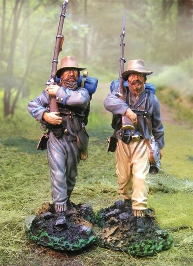 The COLLECTORS SHOWCASE, CS00534, 54mm, Confederate Inf. Marching