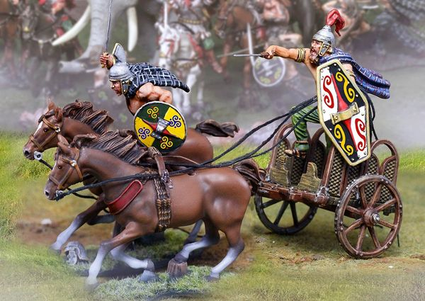 The COLLECTORS SHOWCASE, CS01088, 54mm Barbarian King Chariot