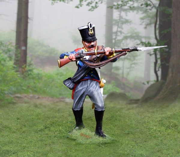 The COLLECTORS SHOWCASE, CS00900, 54mm Prussian Line Inf. Parrying