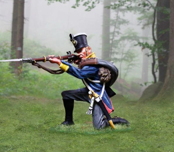 The COLLECTORS SHOWCASE, CS00897, 54mm Prussian Line Inf. Kneeling Firing
